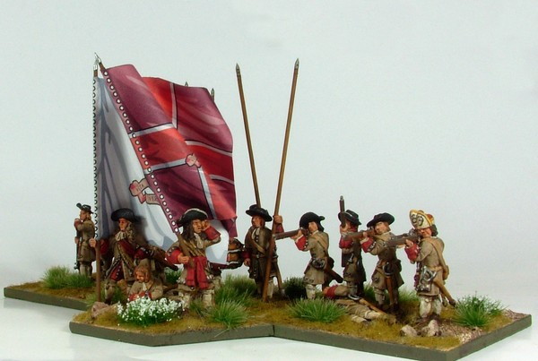 B003 Firing line with pike and grenadiers in fur cap