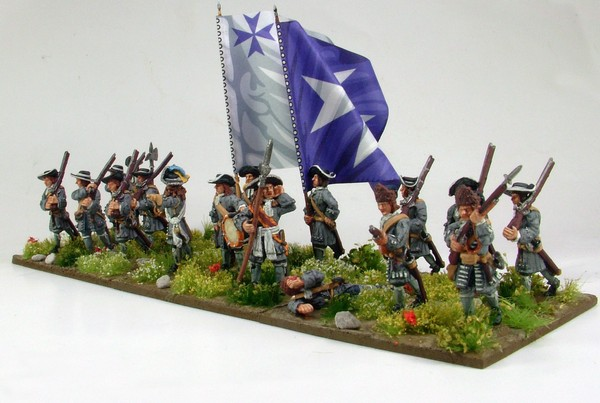B013 Advancing  pikes and grenadiers in fur cap