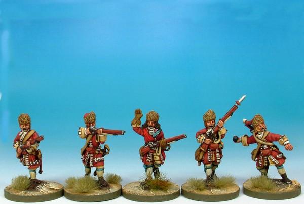 WLOA11 Grenadiers in fur caps storming the breach