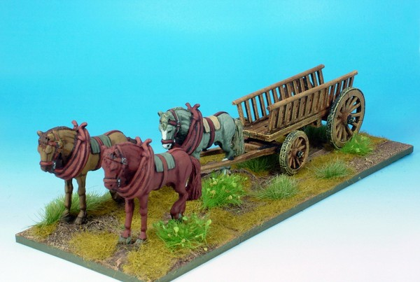 WLOA905 Wagon with three horses
