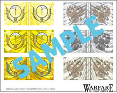 FR012 Russian Infantry Flags - Yellow