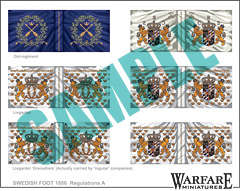 SIF001 Swedish Infantry Flags for Poltava