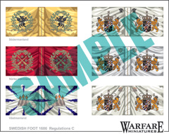 SIF003 Swedish Infantry Flags for Poltava