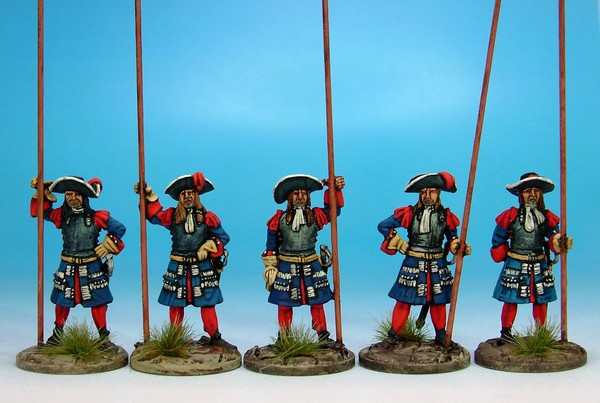 B025 Gardes Francaises/Suisses with matchlock muskets