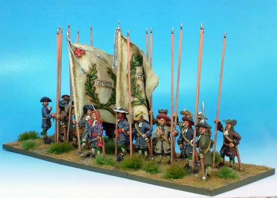 B020 Recruits or militia no muskets