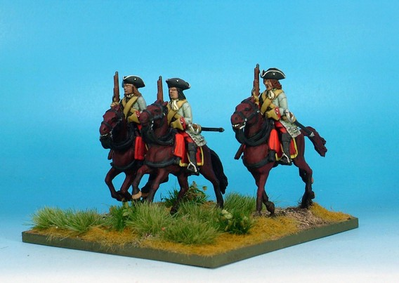 WLOA53b Cuirassiers, cuirass under coat,tricorne; galloping horses