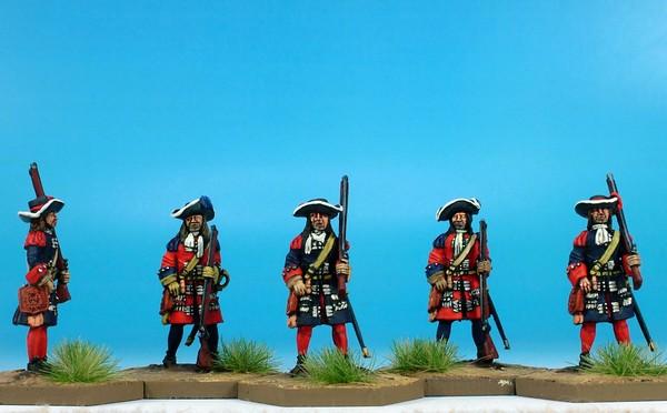 WLOA153b Gardes Francaises/Suisses Musketeers (Flintlock)