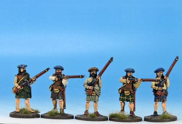 H003 Highlanders with matchlocks