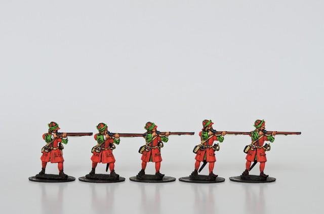 R07 GNW Russian musketeers in kartuz firing