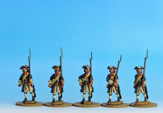 P01 WSS/GNW Prussian Musketeers marching