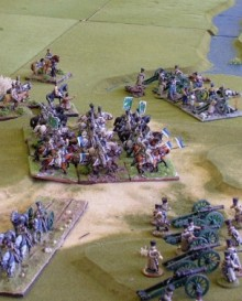 Russian Cavalry Division contesting the crossing